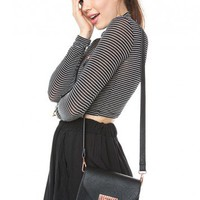 Brandy ♥ Melville |  Mini Leather and Rose Gold Crossbody - Accessories