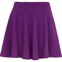 Purple textured skater skirt