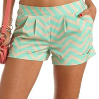 CHEVRON PRINT SOFT SHORT