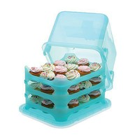 Cupcake Courier 36-Cupcake Plastic Storage Container, Soft Blue Sky