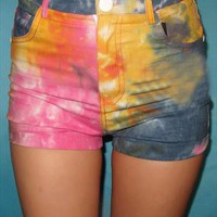 Tie Dyed Shorts for Women from SarahHunt