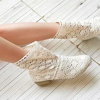 Crochet Ankle Boots with Insert