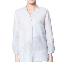 COMBINATION BOYFRIEND BLOUSE - Woman - New this week | ZARA United Kingdom