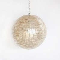 Weaver Capiz Shell Ball Pendant