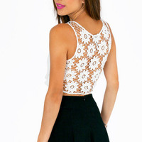 Back Petals Crop Top $28
