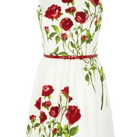 Rose Stem Print Dress