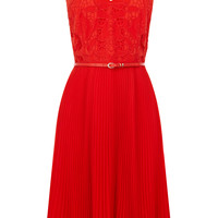 Emma Pleat Midi Dress