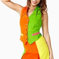 Vintage Moschino Life In Color Skirt Set