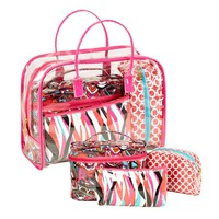 Four Piece Cosmetic Tote Set