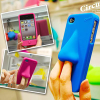 HANA Silicone iPhone 4/4s case (Blue):Amazon:Cell Phones & Accessories