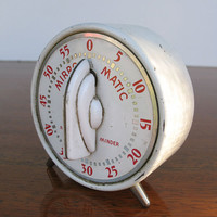 Vintage Kitchen Timer Mirro Matic Minute Minder