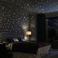 Fuloon Huge Set of 798/285 Glows The moon Beautiful Faery in the Dark Stars and Stick Wall Decals:Amazon:Home Improvement