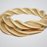 Vintage Celluloid Bracelet Swirl Band  Bangle Art Deco 1930s Jewelry