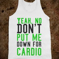 Don't put me down for cardio jersey tank top t shirt - Its a hit - Skreened T-shirts, Organic Shirts, Hoodies, Kids Tees, Baby One-Pieces and Tote Bags
