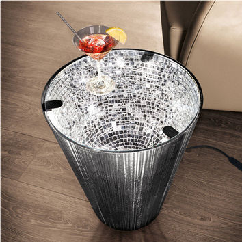 """""""Narciso"""" Mirror Mosaic Table - Fascinating glow – reflected by hundreds of tiny mirrors. - Pro-Idee Concept Store - new ideas from around the world"""