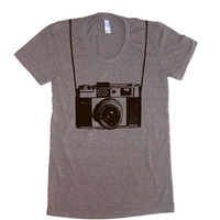 Womens Vintage Camera T Shirt - American Apparel Tshirt - S M L XL (20 Color Options)
