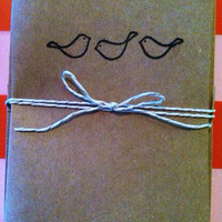 Handmade Blank Cards, birds or anchor