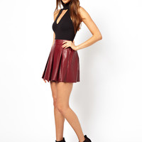 Oh My Love PU Skirt