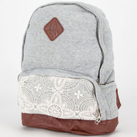 Jersey Knit Backpack Heather Grey One Size For Women 20697513001