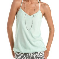 Crochet Back Banded Bottom Tank: Charlotte Russe