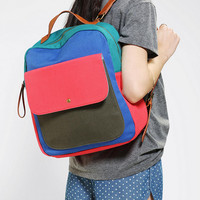Urban Outfitters - Cooperative Colorblock Canvas Backpack