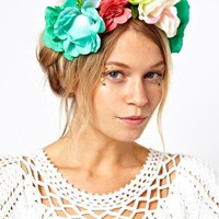 ASOS Bouquet Garland Headband at asos.com