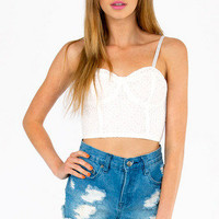 Eyelet You Go Crop Top $46