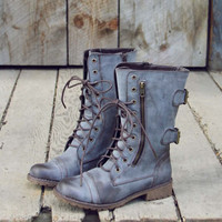 Sweet & Rugged Combat Boots in Brown, Sweet Rugged Shoes & Boots