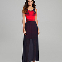 Gianni Bini Cabrina Sheer-Overlay Maxi Dress | Dillards.com