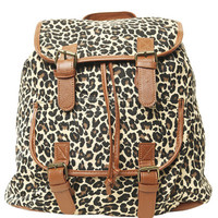 Buckle Leopard Backpack | Shop Just Arrived at Wet Seal
