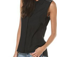 ROUGH STUDDED SHOULDER TANK | Swell.com