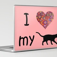 I Heart My Cat Laptop &amp; iPad Skin by gretzky | Society6