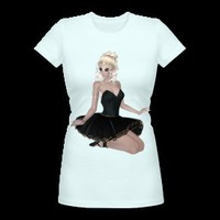 Blond girl ballerina
