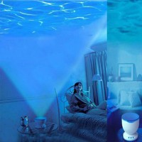 Lujex Romantic Ocean Daren Sea Waves Projector Lamp MP3 iPhone Speaker LED Night Light