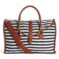 Warehouse Striped Oversized Satchel at asos.com