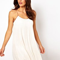 River Island Robin Short Jersey Strap Babydoll Dress at asos.com