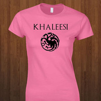Cool Game of Thrones Womens Shirt Khaleesi House Targaryen  Gift Idea Tee Sizes S M L XL 5 Color Choices Available