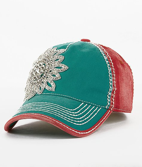 olive pique bling baseball hat from buckle things i