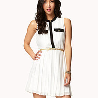 Essential Pleated Chiffon Dress