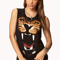 Growling Tiger Muscle Tee | FOREVER 21 - 2075168051