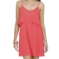 Challis Ruffle Studded Dress | Shop Dresses at Wet Seal