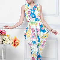 foral print elegant jumpsuit new style final sale l311 from YRB