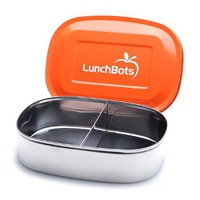 LunchBots Duo Stainless Steel /Food Container, Orange