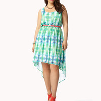 Electric High-Low Tie-Dye Dress | FOREVER21 PLUS - 2050511741