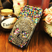 Skullhead crystal samsung galaxy s4 case - Cute Bling Samsung galaxy S3 case - crystal Samsung galaxy S3 i9300 case cover, iphone 4 4s 5 5g