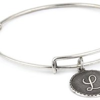 "Alex and Ani ""Bangle Bracelet Bar"" ""L"" Russian Silver-Plated Bangle Bracelet"
