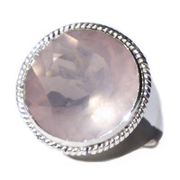 Rose Quartz Hexi Love Ring