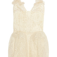 DELPOZO | Broderie anglaise cotton-organza dress