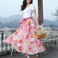 floral print chiffon skirt dress final clearance l217 from YRB