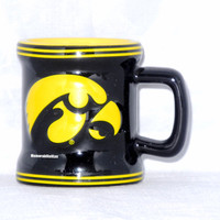 Iowa Hawkeyes 2 oz Sculpted Mini Mug NCAA